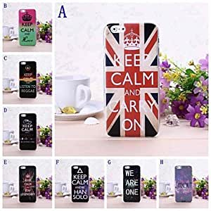 Mini - Graffiti Alphabet Pattern Plastic Hard Case for iPhone 6 , Color-E