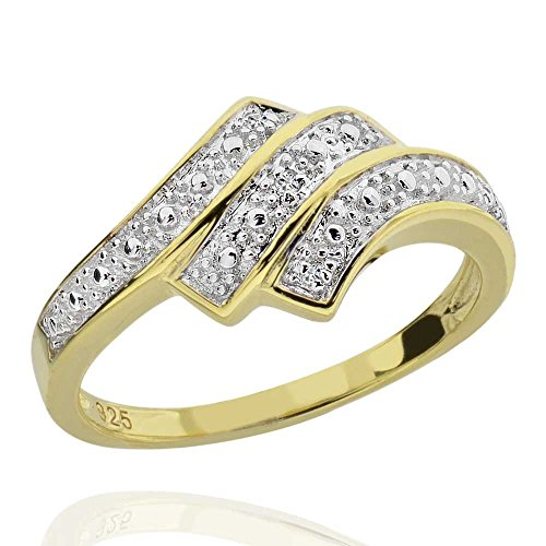 Diamond Accent Bypass Ring - 8
