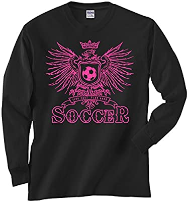 Long Sleeve Live Fast Play Hard Soccer Eagle Womens T-Shirt