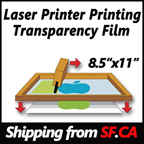 ,Laser Printer Printing Transparency Film for Silk Screen Printing for Laser HP,Canon,Brother,OKI,EPSON Printers ()
