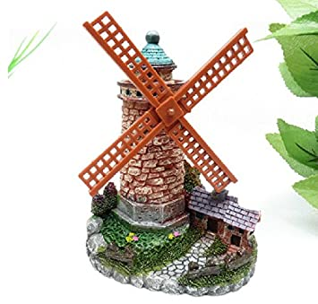 Rotatable Waterwheel Windmill Aquarium Pets Fish Tank Ornaments Ornament Home Decoration Gift Aquarium Manual