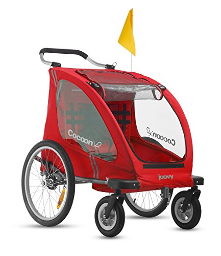 Joovy Cocoonx2 Enclosed Double Stroller, Red