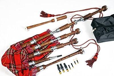 RaBan Professional's Scottish Highland Bagpipe Nickle Engraved Mounts Tartan