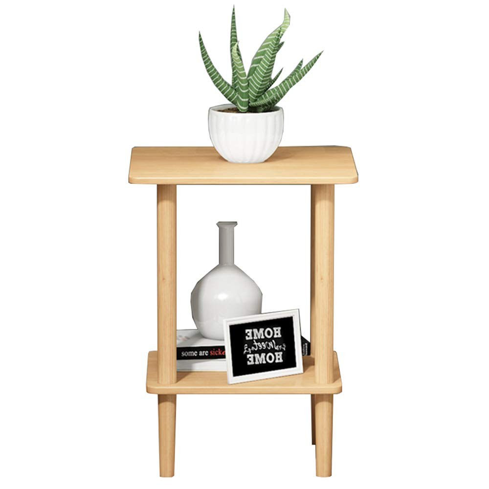 404053CM XIAODONG Modern Square 2 Tier Sofa Side Table Bedside Table Corner Table Storage Shelf, 2 Easy to Move (Size   40  40  53CM)