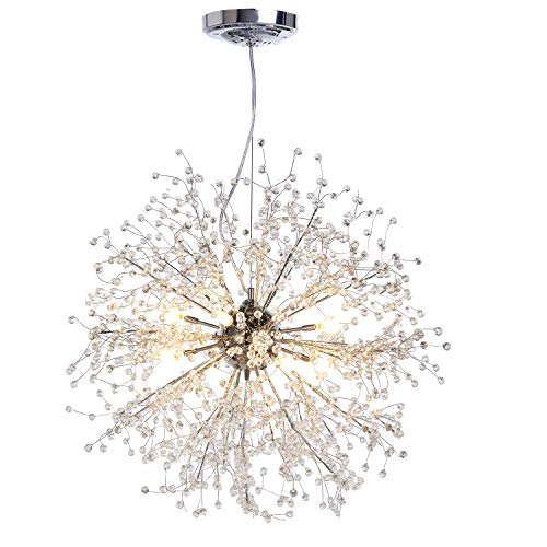 Contemporary Fixture (GDNS Contemporary Firework Crystal Chandeliers,Pendant Lighting,Ceiling Lights Fixtures for Living Room Bedroom Restaurant Porch)