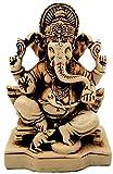 "JB Exports 4"" Lord Ganesh   Ganesha Statue Sculpted in Great Detail in Ivory Antique Finish - Ganesh Idol for Car   Home Decor   Mandir   Gift   Hindu God Idol"