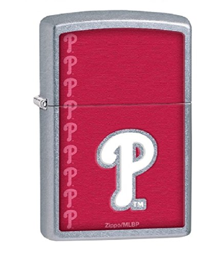 Zippo Personalized Message Engraved on Backside MLB Philadelphia Phillies Windproof Zippo Lighter (Philadelphia Phillies Zippo Lighter)