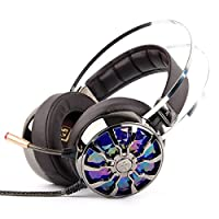 Gaming Headset - KINDEN For PC PS4 Xbox One USB Gaming Headphones with Mic, 7.1 Surround 3D Virtual Sound Noise Cancelling with 4 Dynamic Driver Unit Speaker LED Light from KINDEN