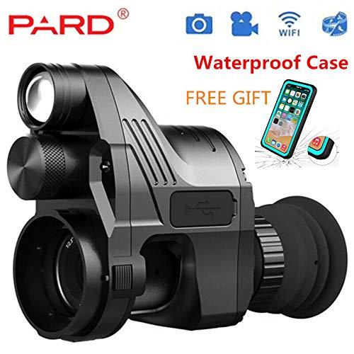 NV007 Riflescope Digital Hunting Night Vision Pard (4x-28x) 5W IR Power 200m Range Scope WiFi Optical IR Infrared Night Vision Cameras Video for Night Activities with APP