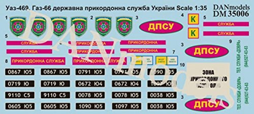 UAZ-469, GAZ-66, STATE BORDER SERVICE OF UKRAINE 1/35 for sale  Delivered anywhere in USA