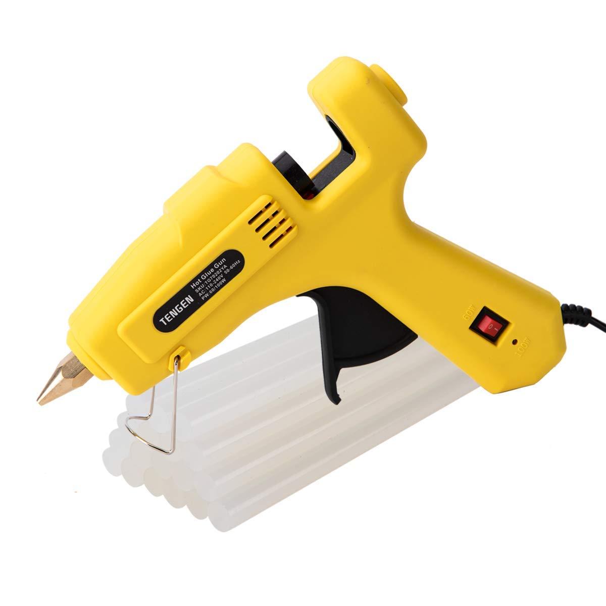 TENGEN Hot Glue Gun with 18 pcs Glue Sticks, High Temp Melting Glue Gun for DIY, Arts & Crafts Use