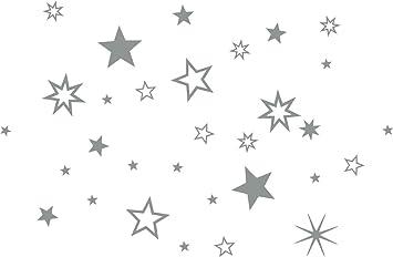 Lot De 30 Stickers De Decoration Noel Etoiles Argentees Mix De Noel