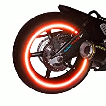 """customTAYLOR33 (All Vehicles) Red High Intensity Grade Reflective Copyrighted Safety Rim Tapes (Must select your rim size), 17"""" (Rim Size for Most Sportbikes)"""