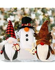 Actaday 3Pcs Swedish Plush Santa Gnomes, Handmade Gnomes Plush Christmas Decorations, Christmas Gnomes Decorations Clearance, Christmas Elf Decoration Ornaments Thanks Giving Day Gifts