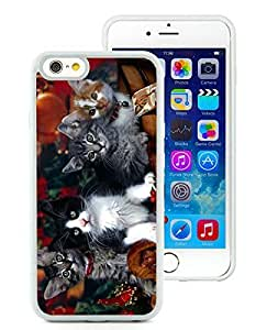 Personalization iPhone 6 Case,Christmas Kittens White iPhone 6 4.7 Inch TPU Case 1
