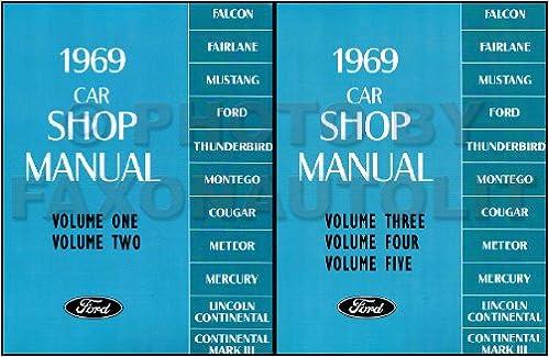 FORD LINCOLN MERCURY 1969 Cougar Mustang Thunderbird LTD /& Torino Shop Manual CD