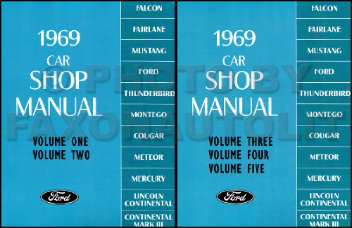 1969 LINCOLN & MERCURY REPAIR SHOP & SERVICE MANUAL Continental, Continental Mark III (for 1968½ and 1969), Brougham, Comet, Cougar, XR-7, Cyclone, Cyclone CJ, Marquis, Marauder, Meteor (Canada), Montego, MX, MX Brougham, Monterey Custom 69