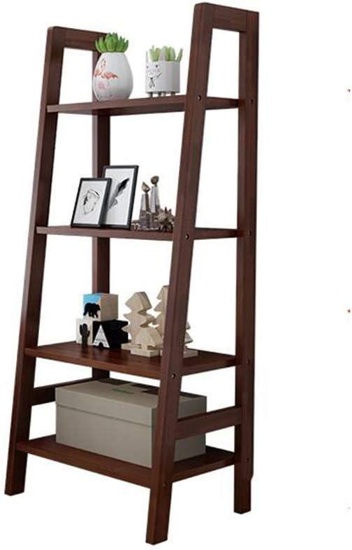 YLCJ Estantería Caucho Madera 4 Niveles Escalera Estante Unidad Estante Expositor Soporte (Color: Color Nogal, tamaño: 60 * 38 * 140 cm): Amazon.es: Hogar