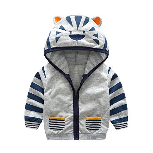 cd109c6c3 Infant Toddler Boy Girl Cartoon Animal Hooded Zipper Coat Kids ...