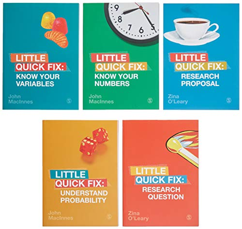 BUNDLE: Little Quick Fix Series (OLeary: Research Question + OLeary: Research Proposal + MacInnes: Identify Your Variables + MacInnes: Know Your Numbers + MacInnes: Understand Probability)