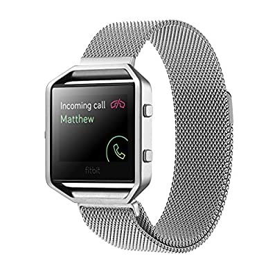 Fitbit Blaze Accessory Band,Small (5.5-6.7 in),Oitom® Milanese Magnet Loop Stailess Steel Metal