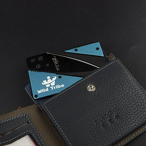 Wild Tribe Card Shaped Folding Knife the Perfect Pocket or Survival Tool.