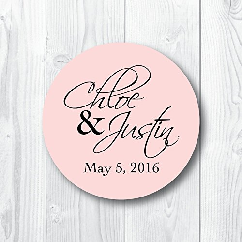 - Modern Script Custom Wedding Favor Stickers
