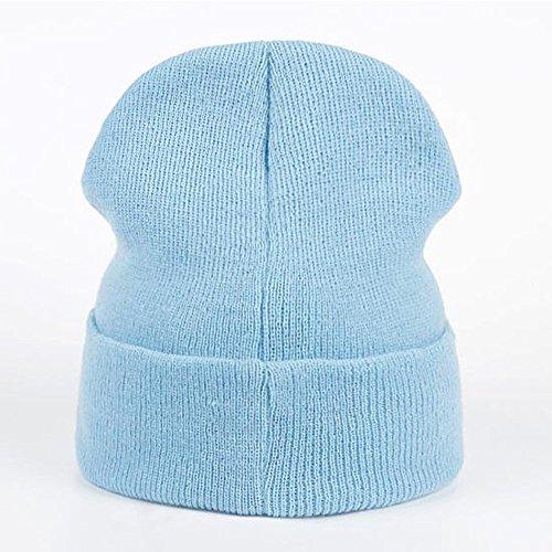 Azul Azul única Nova Punto de Talla para Gorro Hombre axPXY1