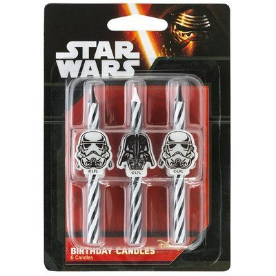Star Candle Pan - Star Wars Icon Birthday Cake Candles - 6 pc