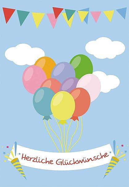 Tarjeta de felicitación para cumpleaños infantil Corazón de ...