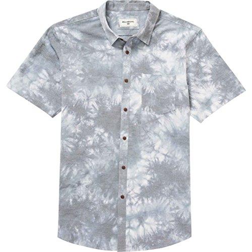 (Billabong Men's Printed Woven Shirts, Indigo Tiedye New Order, Medium)