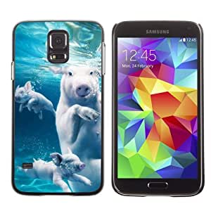 Designer Depo Hard Protection Case for Samsung Galaxy S5 / Swimming Pigs