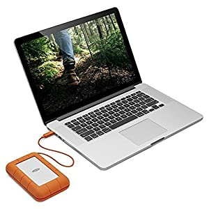LaCie Rugged Thunderbolt USB-C 5TB Portable Hard Drive STFS5000800 and Ivation Compact Portable Hard Drive Case (Large)