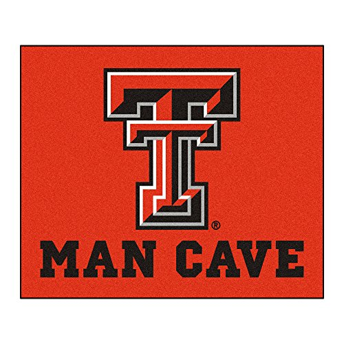 NCAA Texas Tech University Red Raiders Man Cave Tailgater Rectangular Mat Area Rug ()
