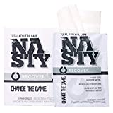 NASTY Body Wipes – No Rinse Sports Cleansing Towel, Extra Large, Individually Wrapped (10 Pack)