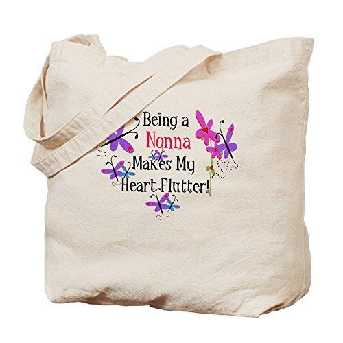 CafePress–nonna Heart Flutter–Borsa di tela naturale, panno borsa per la spesa