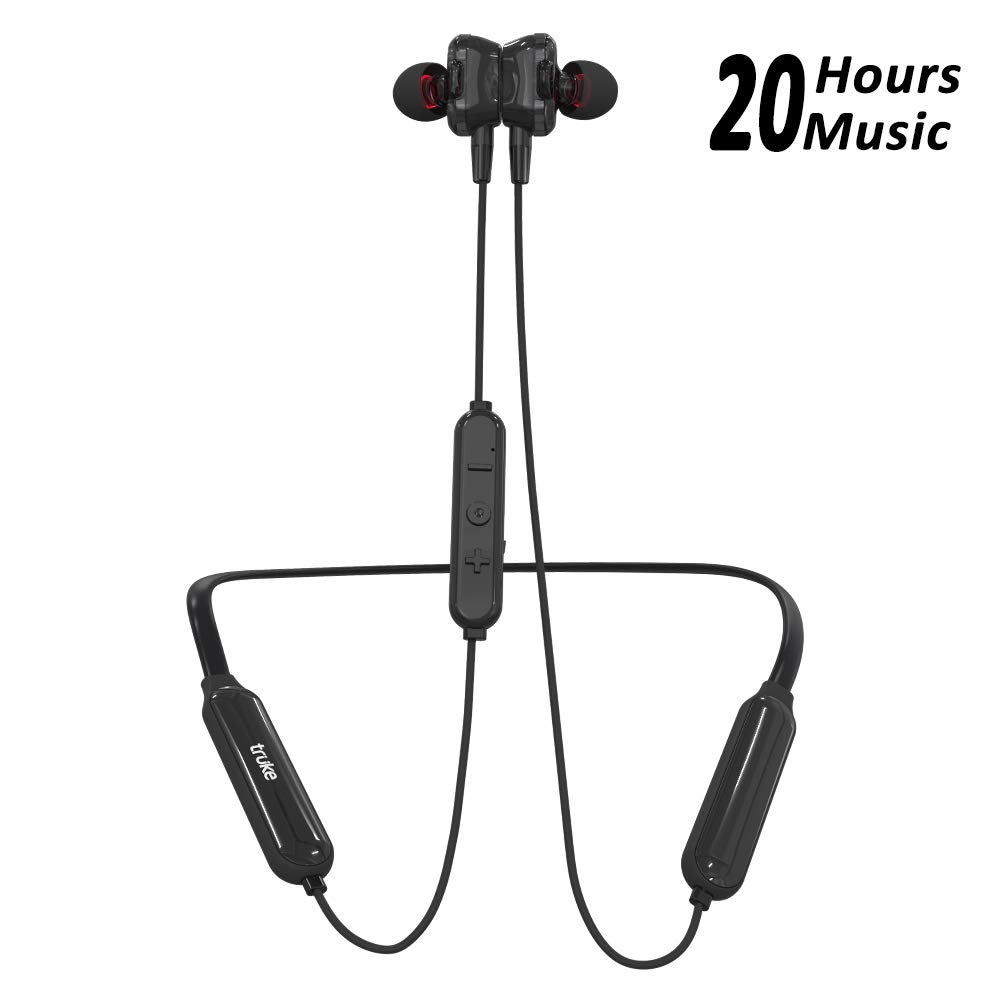 truke Yoga Power in-Ear Neckband Wireless Bluetooth Earphones with Mic (Black)