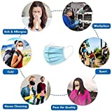 50PCS Disposable Face Mask 3 Layers Elastic Earloop Medical Protective Mask for Germs, Haze, Smoke, Dust