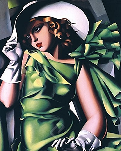 EuroGraphics Laminated Young Girl in Green by Tamara de Lempicka Art Deco Woman Fine Art Print Poster 16x20