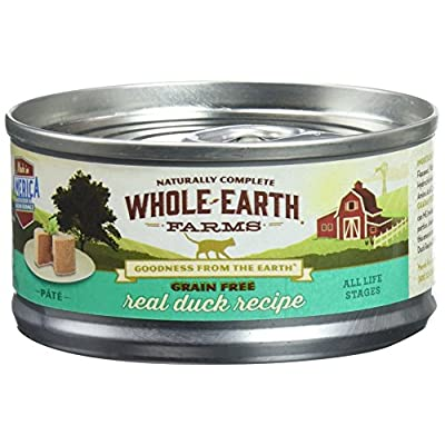Whole Earth Farms 295250 Grain-Free Real Duck Recipe Pate Wet Cat Food, One Size