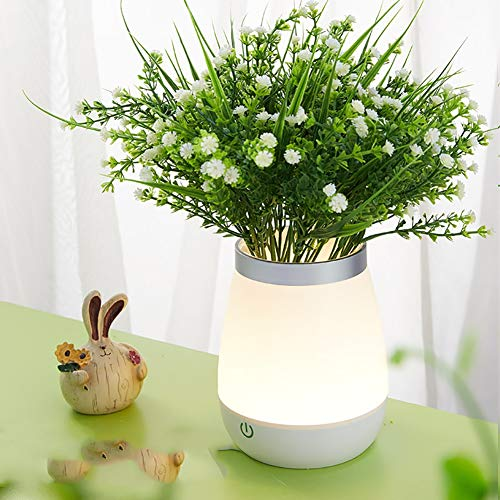 LXT PANDA Dimmable LED Night Light, LED Rechargeable Glowing Flower Pot Lamp Vase Mood Lighting Kids Bedroom Living Dinning Room Bar Table Party Decoration,e