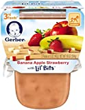 3rd baby food - Gerber 3rd Foods Lil' Bits Purees - Banana Apple Strawberry - 5 oz - 2 ct - 6 pk