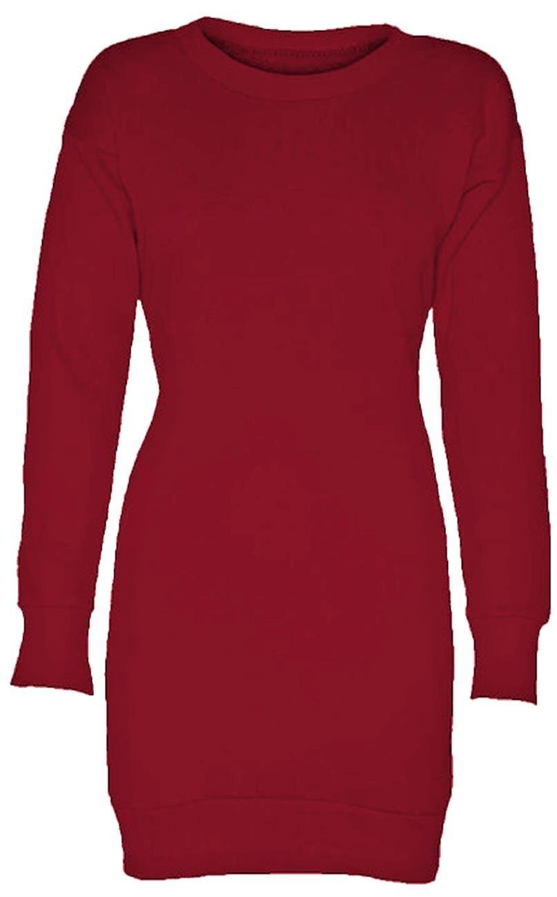 Neuer Frauen Langarm Übergröße Printed Sweatshirt Pullover Tops Minikleid  36-50: Amazon.de: Bekleidung