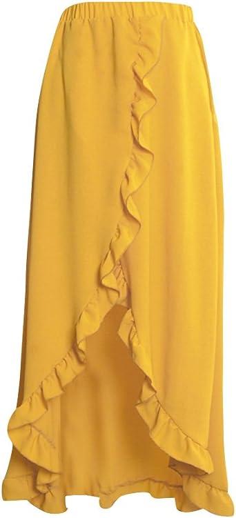 Falda Asimétrica Irregular De Las Mujeres, Largo Maxi Skirt Faldas ...