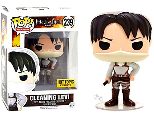 Funko Pop Animation #239 Cleaning Levi Attack on Titan Hot Topic Exclusive