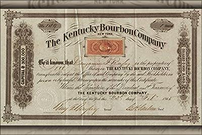 24x36 Poster; Kentucky Bourbon Co Stock Certificate 1865
