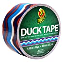 ShurTech PDT-1844 Patterned Duck Tape, 1.88 by 10-Yard, Patriotic Waves