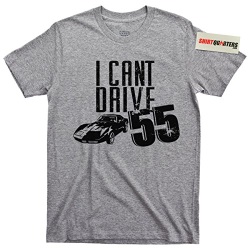 (I Can't Drive 55 Sammy Hagar Red Rocker 80s Rock T Shirt (Garage Sports Gray, X-Large))