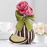 Mrs Prindables Triple Chocolate Pink Posey Jumbo Caramel Apple Gift
