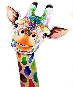 5D Diamond Painting Kits Crystal DIY Wall Sticker Diamond Mosaic Cross Stitch Embroidery Kit for Home Decor Giraffe 12x16 inches